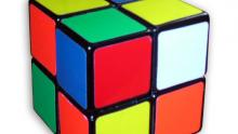 A 2x2 Rubik's Cube unsolved