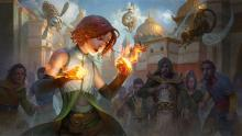 Image of Chandra as a child discovering her fire power